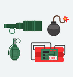 bomb and dynamite weapon vector image