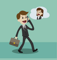 businessman or manager in a suit with a briefcase vector image