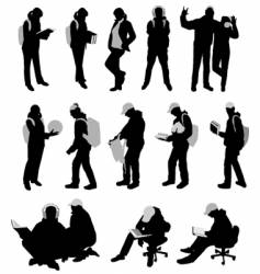 silhouettes of students vector image vector image