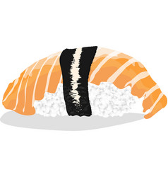 sushi japanese cuisine vector image