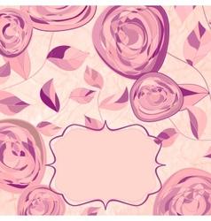 Vintage Rose Pattern Card vector image vector image