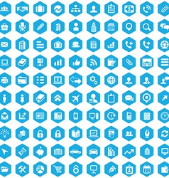 100 company icons vector image