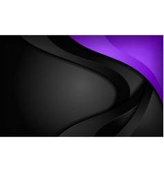 Abstract dynamic purple and black combination vector