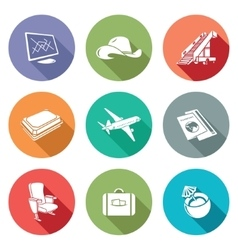 Aircraft and flight Icons Set vector