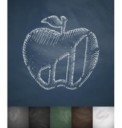 Apple icon Hand drawn vector