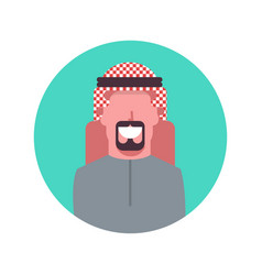 Arabic man profile avatar icon arab businessman vector