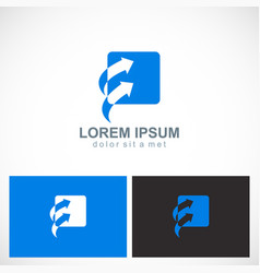 arrow square forward business logo vector image