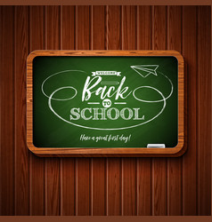 back to school design with chalkboard and vector image