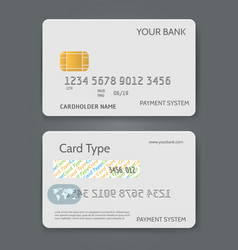 bank credit card white template vector image