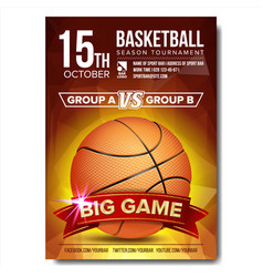 Basketball poster basketball ball design vector