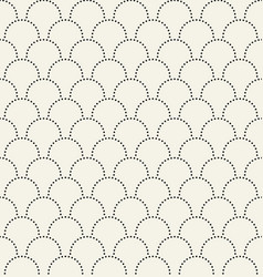 black semicircles fish scales seamless pattern vector image