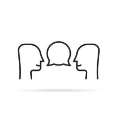 Black thin line small talk icon vector