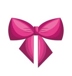 Bow ribbon decoration icon vector