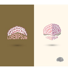 Brain logo design template brain as a book with vector image