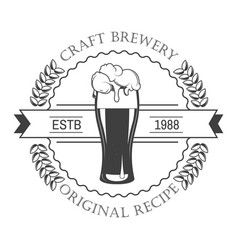 brewery isolated icon craft beer house emblem vector image