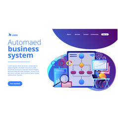 Business process automation bpa concept landing vector