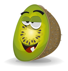cartoon funny kiwi character vector image