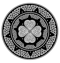 Celtic shield decorated with a ancient european vector