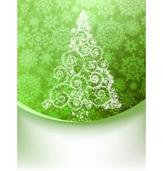 Christmas Tree Greeting Card EPS 8 vector image