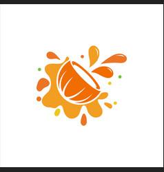 coconut logo icon design vector image