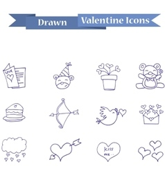 Collection icon valentine object vector
