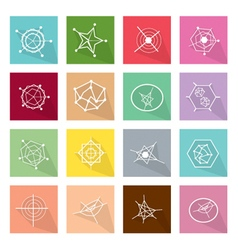 Collection of 16 Business Geometry Chart Banner vector