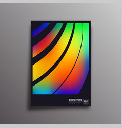 colorful gradient rainbow design for flyer poster vector image