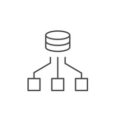Computer network line outline icon vector