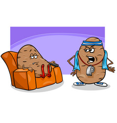 couch potato saying cartoon vector image