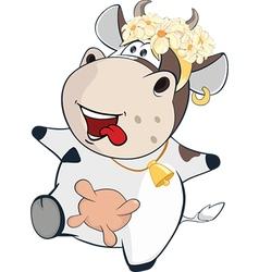 Cute Cow Cartoon Character vector