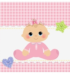 Cute template for baby postcard vector image