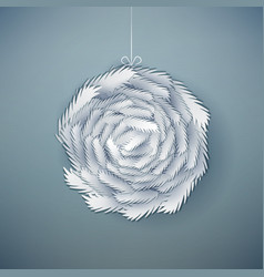 decorative paper cut wreath vector image