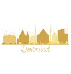 Dortmund city skyline golden silhouette vector