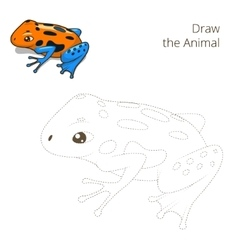 Draw the animal bull educational game vector