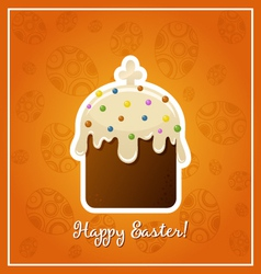 Easter background with easter cake illistration vector image
