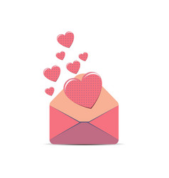 envelope pink letter love white paper isolated vector image