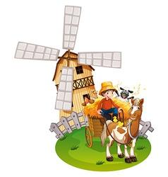 Farm boy vector image