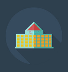 Flat modern design with shadow icons school vector