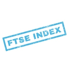 Ftse Index Rubber Stamp vector image