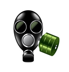 Gas mask isolated on white vector image
