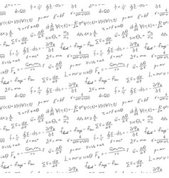 Handwriting scientific background seamless pattern vector