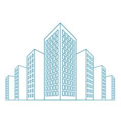 High buildings residential house tenement houses vector