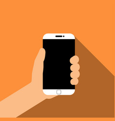 Holding smartphone in hand vector