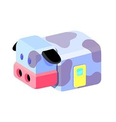 icon cow van vector image