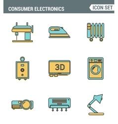 Icons line set premium quality of home appliances vector image