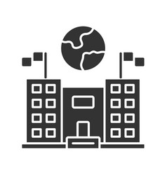 Immigration center glyph icon embassy vector