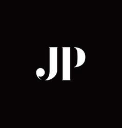 Jp logo letter initial logo designs template vector