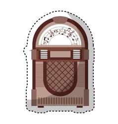 Jukebox audio isolated icon vector