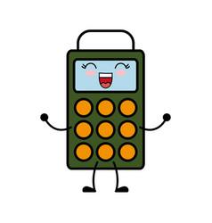 Kawaii dataphone icon vector