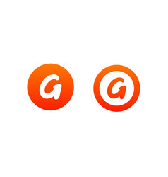 letter g logo design in orange color vector image
